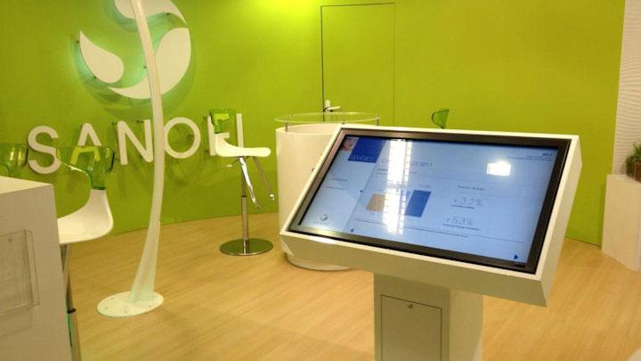 Borne interactive Sanofi