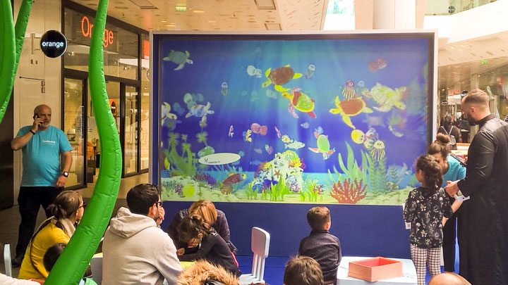 Coloriages animés Aquarium Confluences