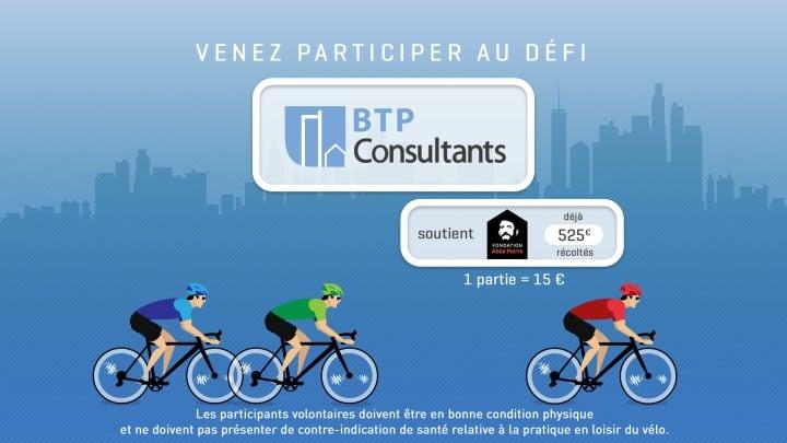 Challenge vélo BTP Consultants