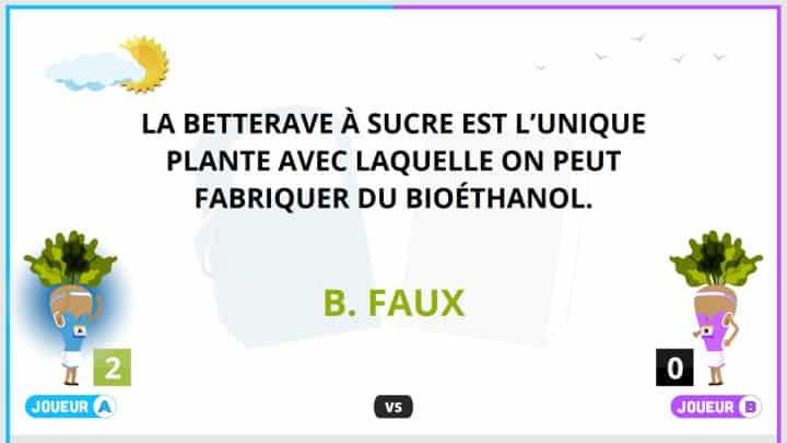 Quiz running Bioéthanol