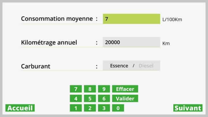 Borne interactive Bioéthanol