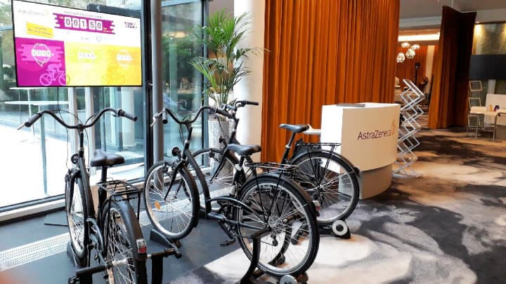 Vélos solidaires AstraZeneca